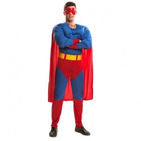 Disfraces Personajes hombre | Disfraz de Superman XXL. ¿Dispuesto a salvar a la humanidad con tus super poderes? Compuesto de traje musculoso con capa y antifaz para que no te conozcan. ATENCIÓN: Talla XXL. 22,95€ #Superman #XXL #supermanxxl #disfrazsuperman #disfraz #superheroe #disfrazpersonaje #disfraces