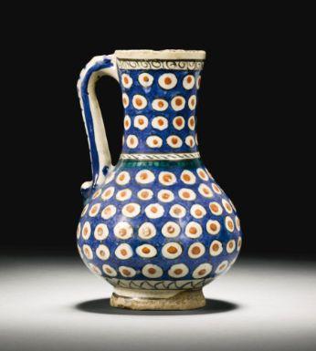 An iznik polychrome pottery jug, Turkey, Circa 1600 - Sotheby's