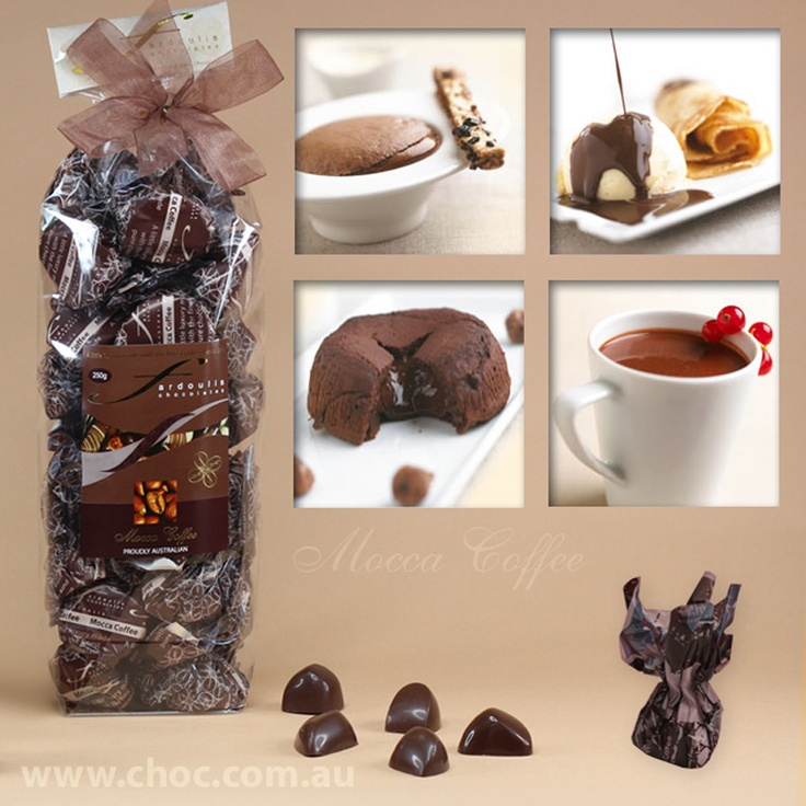 Mocca Coffee Cellophane bags  Fardoulis Chocolates, Chocolate Plato  www.choc.com.au