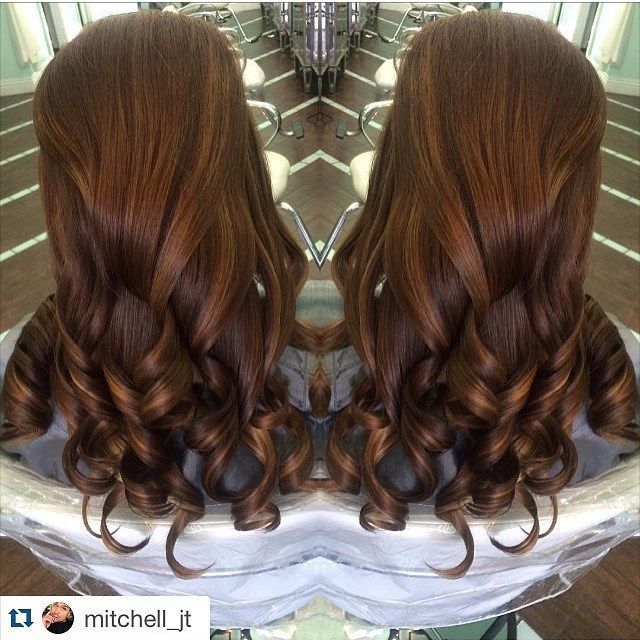 #mulpix In Love with this color done by @mitchell_jt  #cinnamon hair color with…