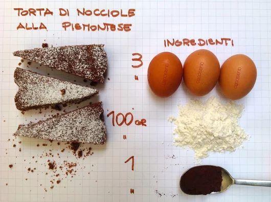 Torta di nocciole alla piemontese una ricetta della tradizione Italiana