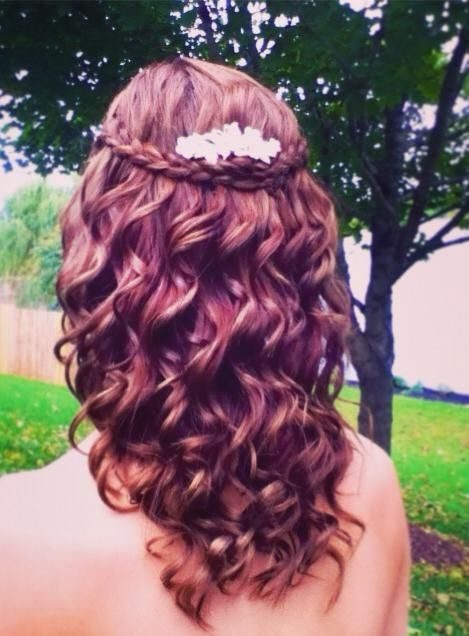 Enjoyable 1000 Images About Curly Hair Half Updos On Pinterest Updo Short Hairstyles Gunalazisus
