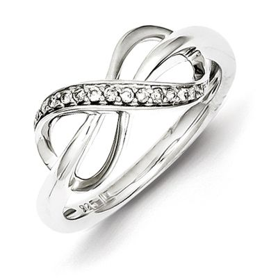 sterling silver 1 15ct infinity promise ring