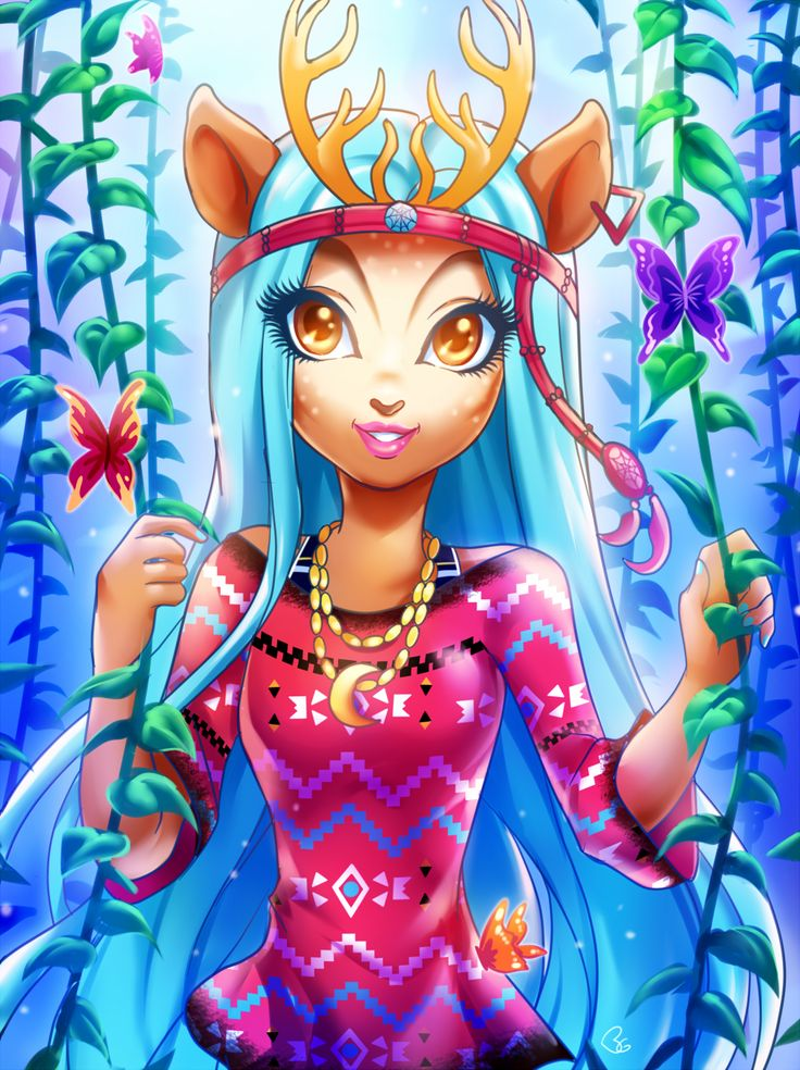 Isi Dawndancer by goldengrimoire3 <3 Monster High Fan Art