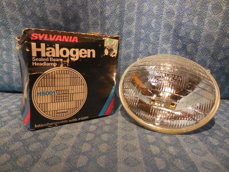 "1955-1974 GM Ford Mopar NEW 5-3/4"" Round Halogen Headlight Bulb #H5001 12 Volt #Sylvania"