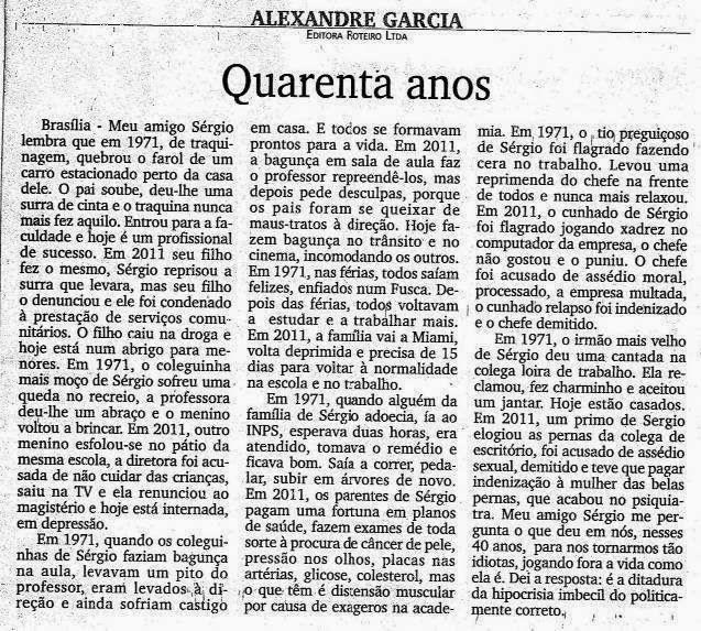 """""""Quarenta Anos"""" Alexandre Garcia"""