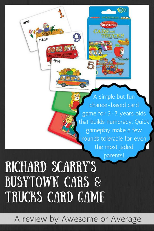 Richard Scarry's Busytown card game is a fun, simple game for 3-7 year olds. Because it's chance-based mis-matched skill levels don't matter. Buy from Amazon: http://amzn.to/2dxVtQY (affiliate link)