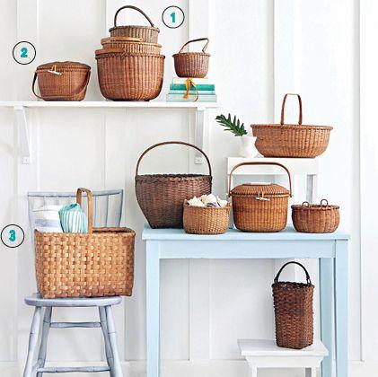 Elegant Coastal Collections: Nantucket Baskets   CoastalLiving.com