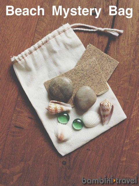 Beach Mystery Bag | sensory activity for preschoolers | Bambini Travel