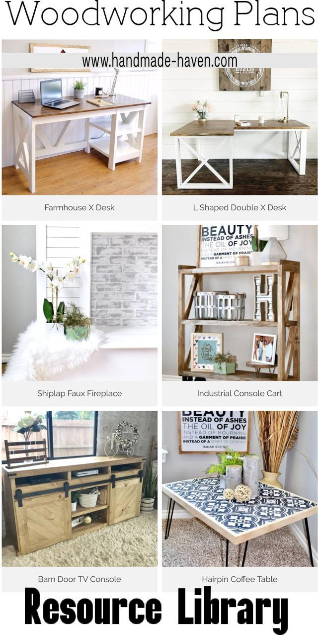 Plans Tutorials In 2019 Farmhouse Style Woodworking