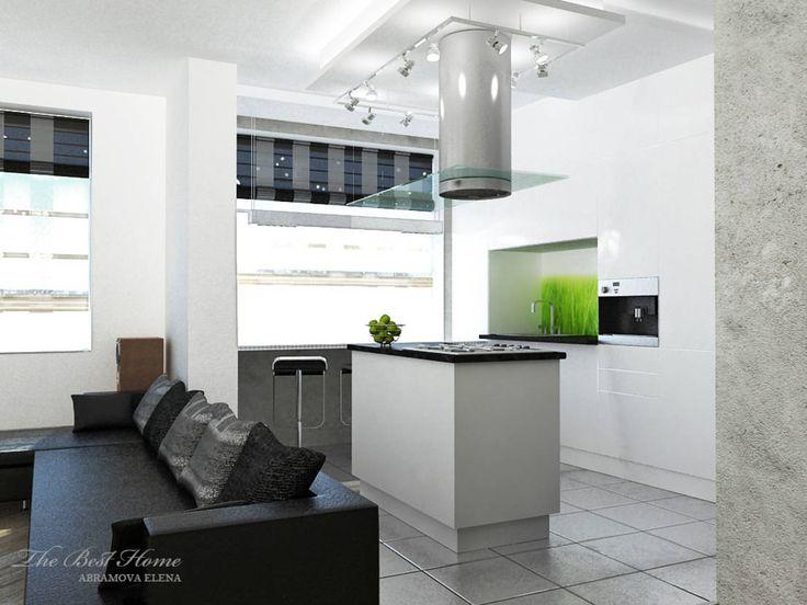 Проект в Москве на Беговой : Кухня в стиле минимализм от Best Home