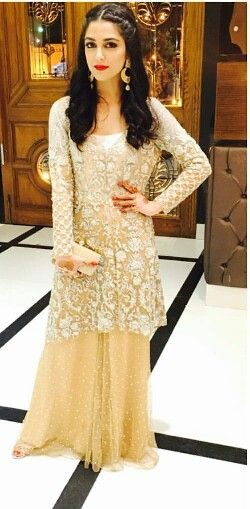 Maya Ali in Mina Hasan at a friend's wedding