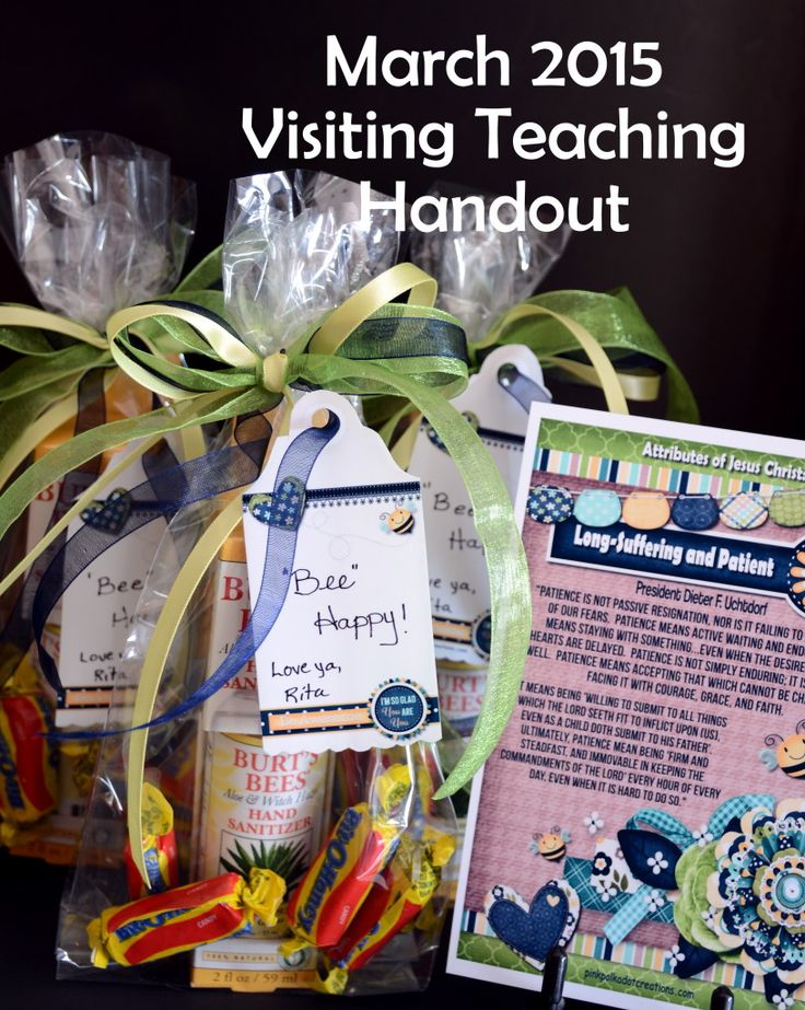 March 2015 Visiting Teaching Handout | Pink Polka Dot Creations
