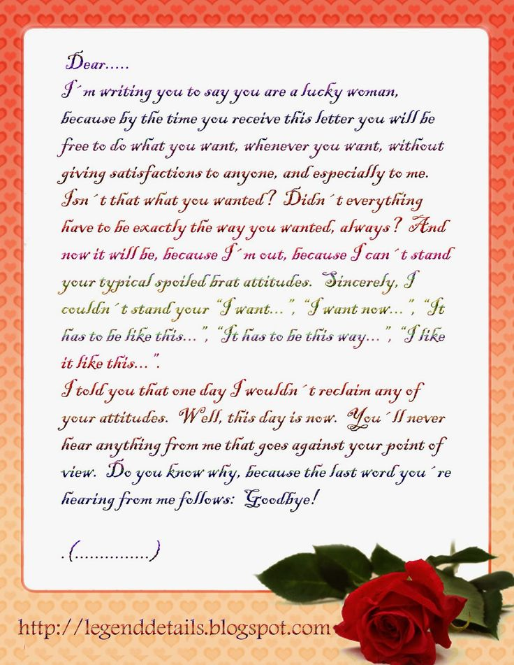 love letter example