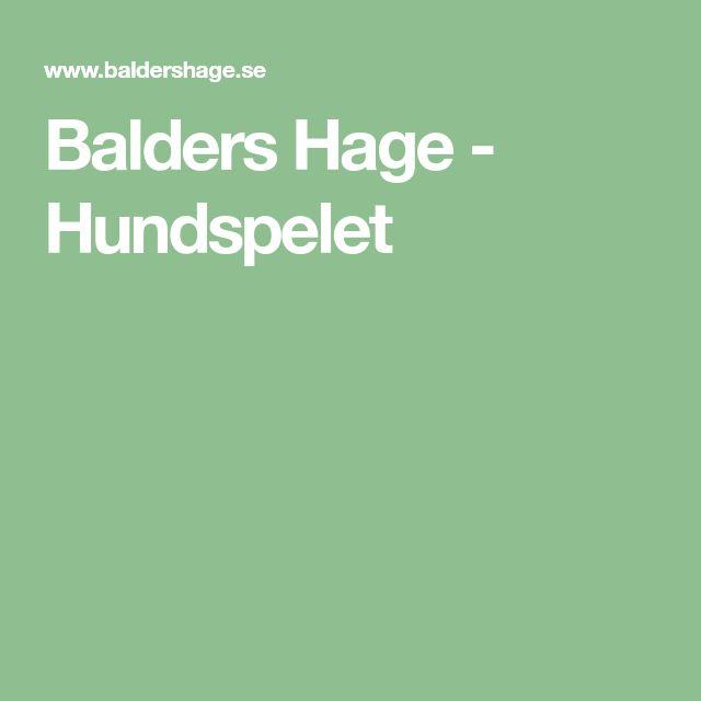 Balders Hage - Hundspelet