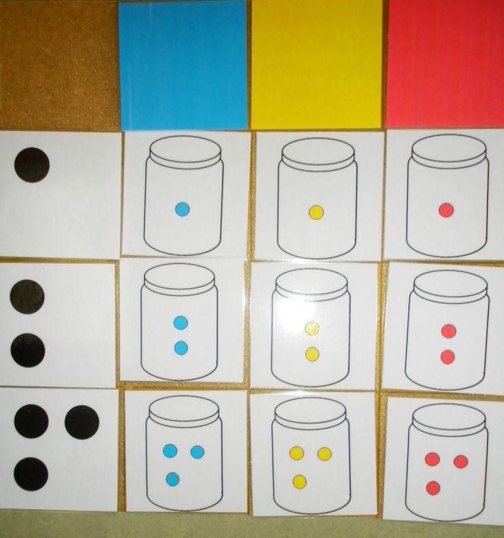 plak gekleurde pilletjes of plak cijfersymbool verschillende kleuren + aantallen