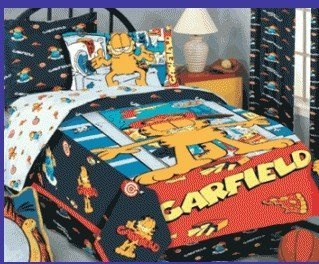 10 best images about garfield fabric on pinterest flat sheets fabric shop and appliques. Black Bedroom Furniture Sets. Home Design Ideas