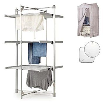 Lakeland Dry-Soon Electric 3 Tier Heated Indoor Airer with Cover & Shelf Pack