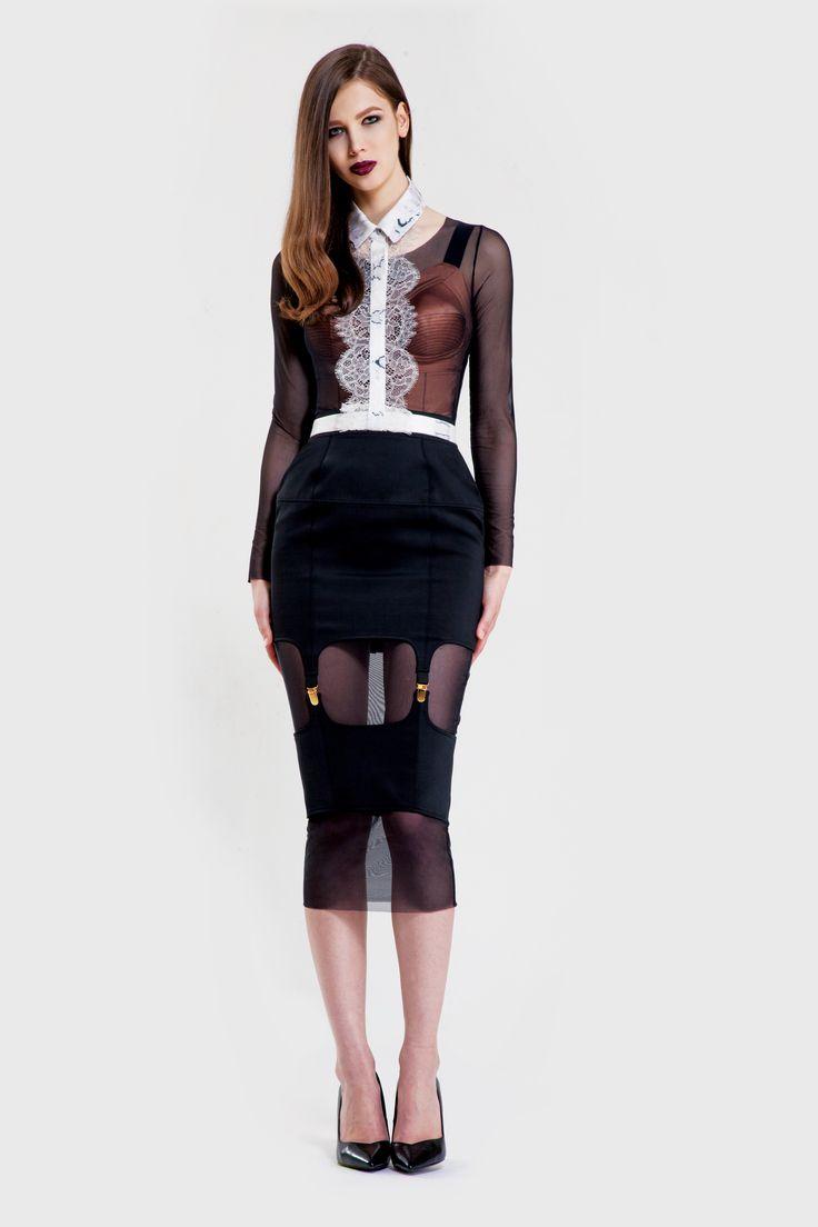 Bare Dress/ Sculpt leotard/ Crack collar/ Temptation skirt www.murmurstore.com