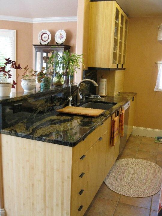 Green And Black Custom Countertops Kitchens Counter