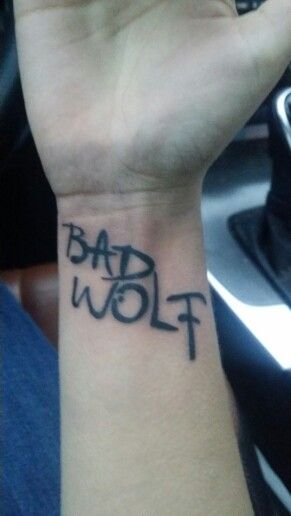 Doctor who tattoo bad wolf