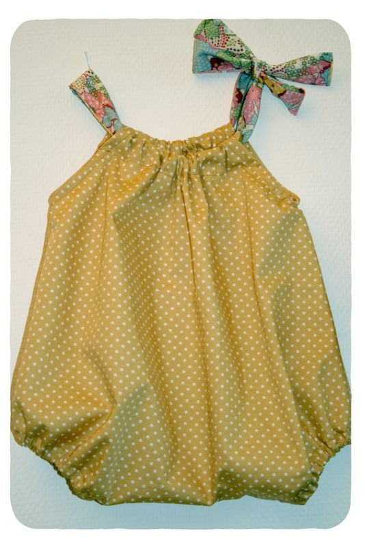 pillowcase bubble romper----Adorable!