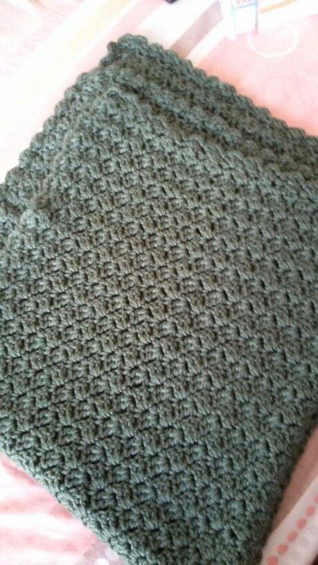 Colcha en crocheth verde