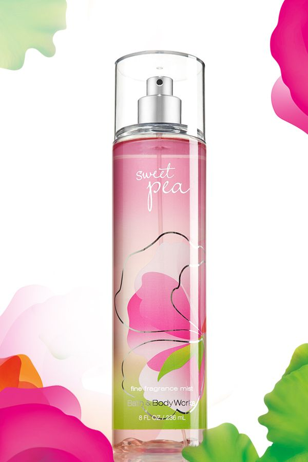 Flirty fragrance in one fine mist! #SweetPea