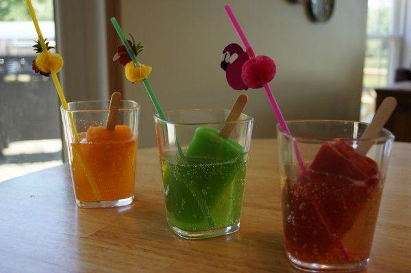 Popsicle Cocktail: Fun Summer, Popsicles Cocktails, Fruit Cocktails, Drunken Fruit, Fun Drinks, Popcicl Cocktails, Fruit Bar, Ginger Ale, Fun Straws