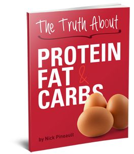 """The Truth About Protein Fat & Carbs   You'll finally learn EXACTLY what """"fattening"""" ingredients and chemicals to avoid when you shop for your proteins, carbs, and fats – plus the RIGHT choices to cook and eat in order to make stubborn belly fat your body's """"go to"""" energy source on a daily ongoing basis. You'll be able to skim through the simple recommendations and immediately start """"swapping"""" out fat STORING foods for brand new, delicious fat BURNING foods starting TODAY."""