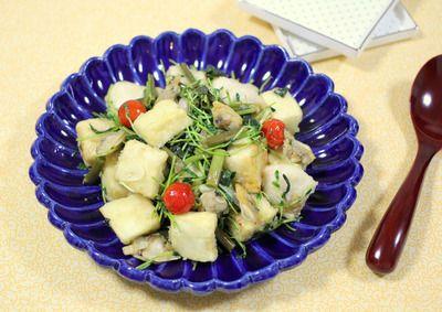 海鮮豆腐中華青菜炒め