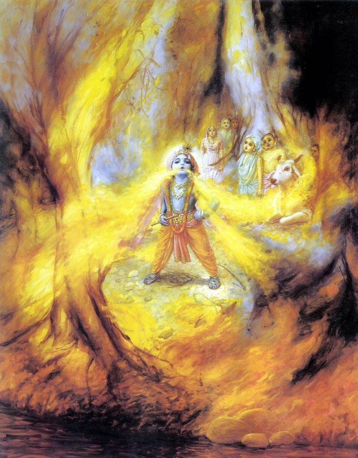 Krishna Fire #Krishna #Krsna #hindu #art