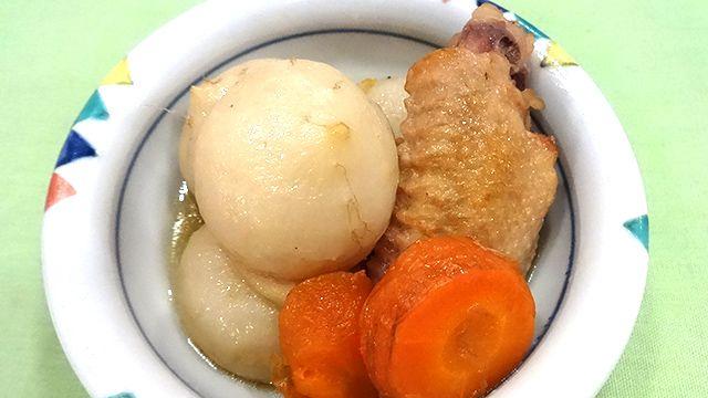 かぶと鶏手羽先の煮物のレシピの紹介です。