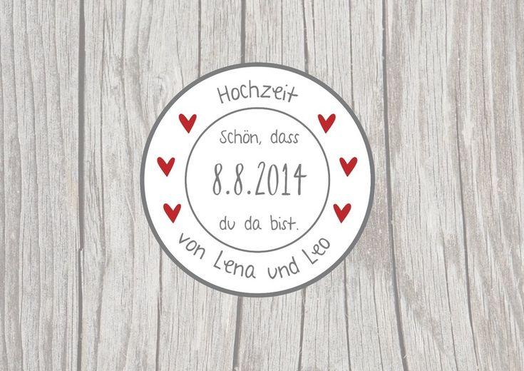 24 persönliche Aufkleber Hochzeit Sticker Etikette von Lottes Laden auf DaWanda.com