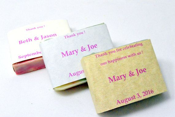 80 Customized Wedding Favor Soaps . 2 oz Soap by NaturalBeautyLine