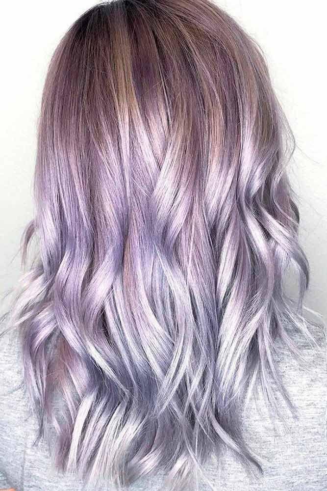 Silver Lavender Ombre Hair Www Pixshark Com Images