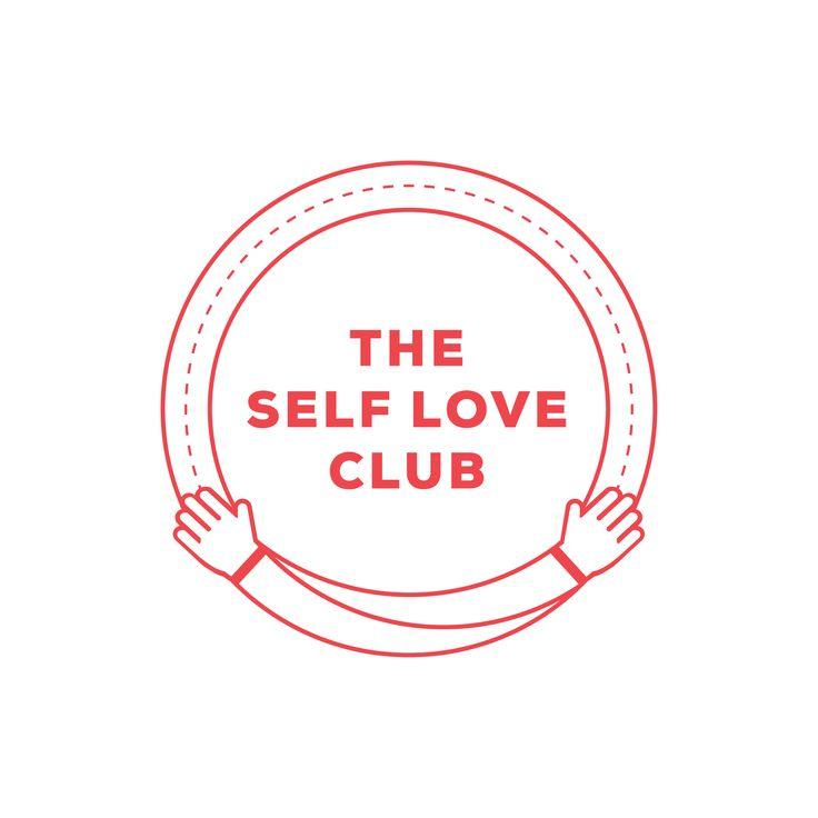 Minimal 'Self Love Club' emblem logo designed by The Binding