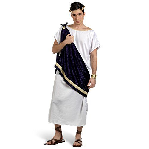 karneval herren kost m griechischer gott pelayo m nner tunika scherpe fasching brosche. Black Bedroom Furniture Sets. Home Design Ideas