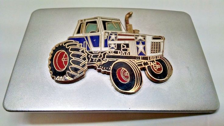FORD FARM TRACTOR SILVER BELT BUCKLE...NICE! #Ford