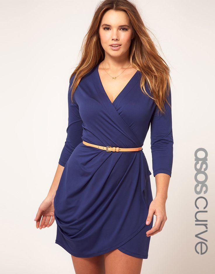 asos curve exclusive wrap dress pretty little dresses pinterest size clothing wrap. Black Bedroom Furniture Sets. Home Design Ideas