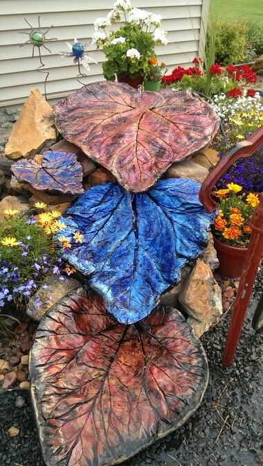 18 best images about leaf casting on pinterest gardens for Best paint for yard art