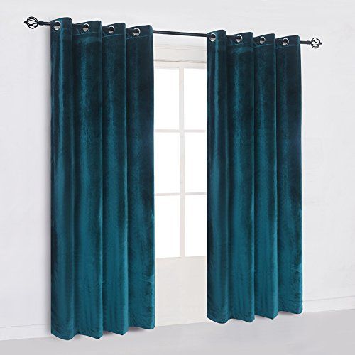 Cherry Home Large Size Flannel Velvet Blackout Window Curtain