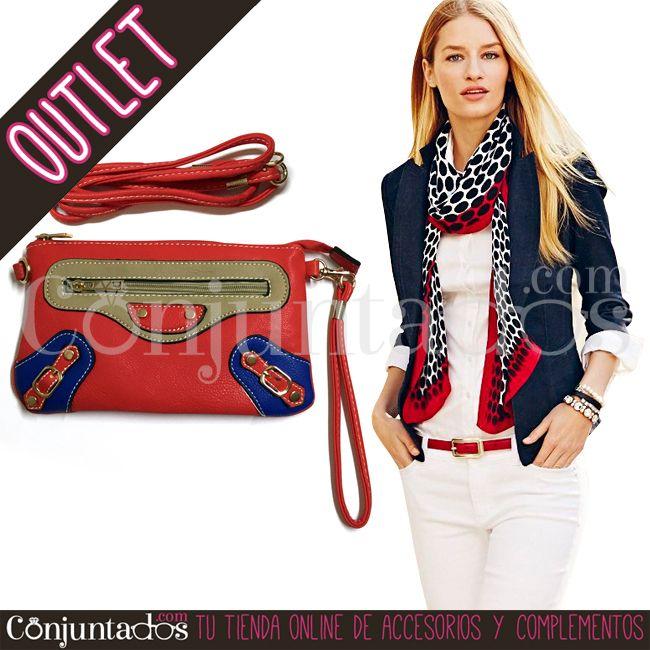 Bolso de mano tricolor con fondo rojo ★ 6'95 € en https://www.conjuntados.com/es/outlet/bolso-de-mano-tricolor-con-fondo-rojo.html ★ #outlet #liquidación #rebajas #descuentos #soldes #sales #regalos #gifts #compras #lowcost #bolso #carterademano #handbag #bag #accesorios #complementos #moda #fashion #fashionadicct #picoftheday #outfit #estilo #style #GustosParaTodas #ParaTodosLosGustos