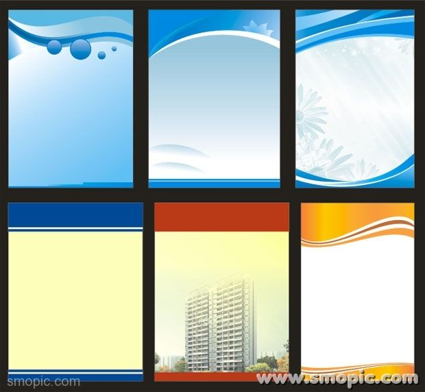 6 vector X banner stand roll up background design template free download Coreldraw CDR