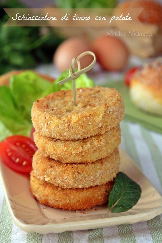Schiacciatine di tonno e patate ricetta cucinare foto blog tuitorial statusmamma blogGz menta prezzemolo ricetta bambini semplice economica veloce ...