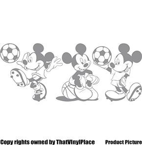 3 Stickers Mickey Mouse 25 cm Choisissez couleur 18 couleurs en stock Disney, boule, basket-ball, Football, chambre, chambre enfants Stickers, vinyle de voiture, Windows et mur sticker, mur d'art de Windows, Stickers, ornement vinyle autocollant vendu par 4printer: Amazon.fr: Bébés & Puériculture