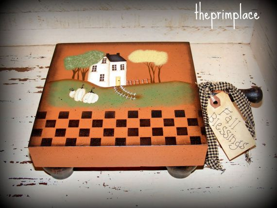 10% OFF Primitive Fall Decor-Handpainted Cutting by theprimplace