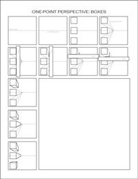 perspective worksheets: Art Perspective, 1 Point Perspective, Perspective Worksheets, One Point Perspective Lesson, Point Perspective Art Lessons, Amazing Perspective, Art Project Perspective, Perspective Boxes