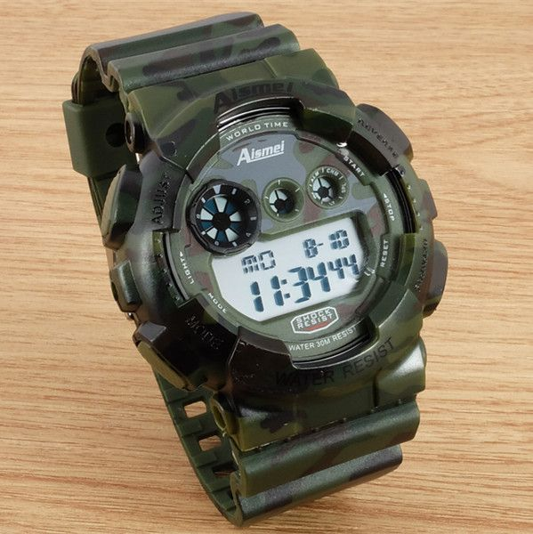 Aismei Camo men's sports watches LED relogio GMT wristwatch military camouflage digital watch good gift for men and boy-in Digital Watches from Watches on Aliexpress.com | Alibaba Group