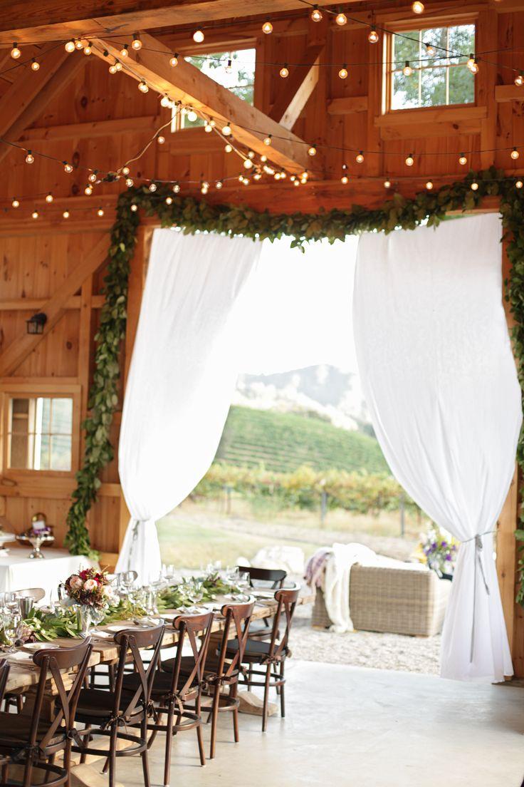Beautiful rustic wedding setting {Photo by Laura Murray via Project Wedding}